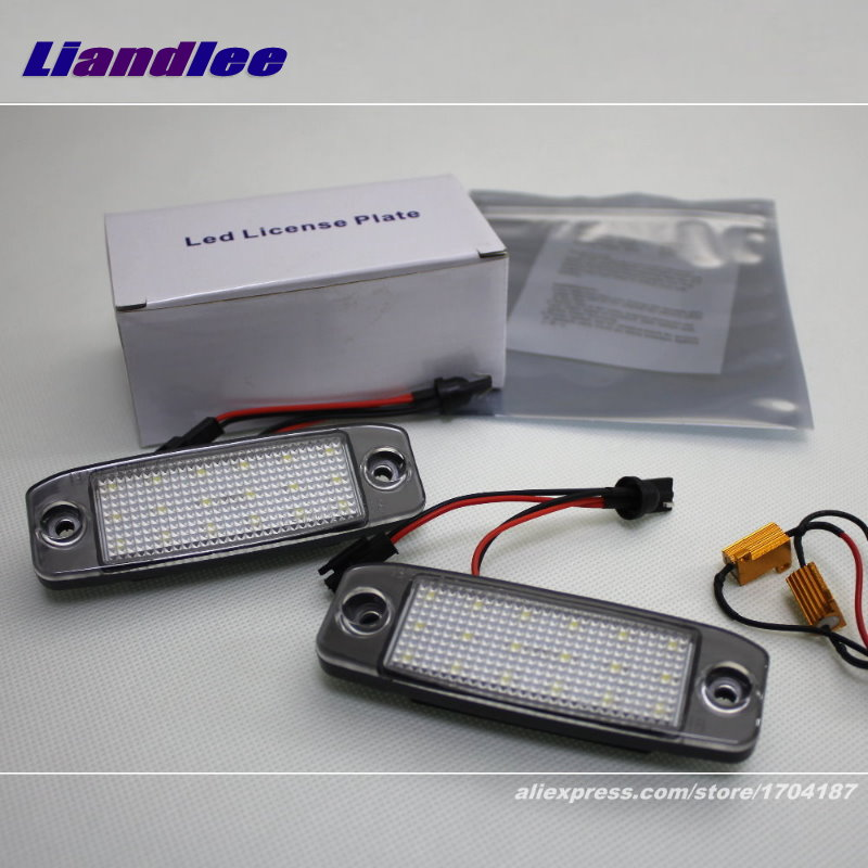 Liandlee For Hyundai Veracruz / ix55 / LED Car License Plate Light / Number Frame Lamp / High Quality LED Lights