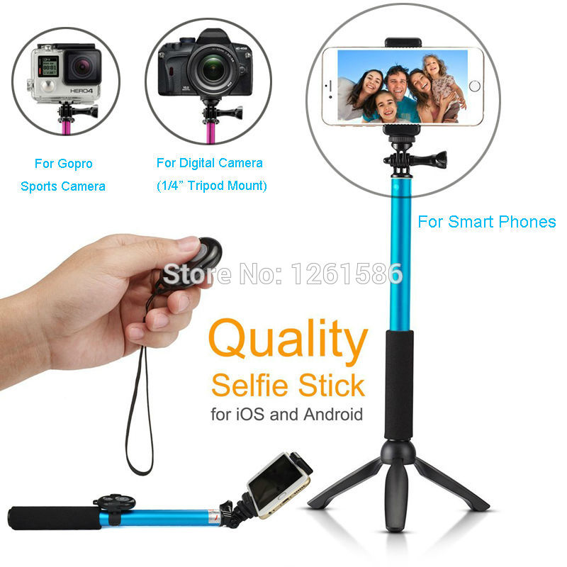 christmas gift bluetooth remote camera shutter selfie stick 39 gopro monopod yunteng tripod for. Black Bedroom Furniture Sets. Home Design Ideas