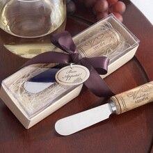 Деревянная ручка, нож для масла, Фруктовый нож для джема и сыра, подарочная коробка