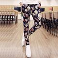 2016 new summer black and white pants trend of men's casual pants feet autumn Korean stamp slim pants