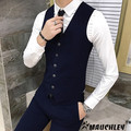 Mauchley The Fall Of 2017 New Men's Leisure All-match Korean Male Slim Vest Colete Mascylino Terno Waistcoat Chaleco hombre