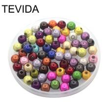 Tevida Q08 4/6/8/10mm Round Acrylic Reflective Miracle Solid
