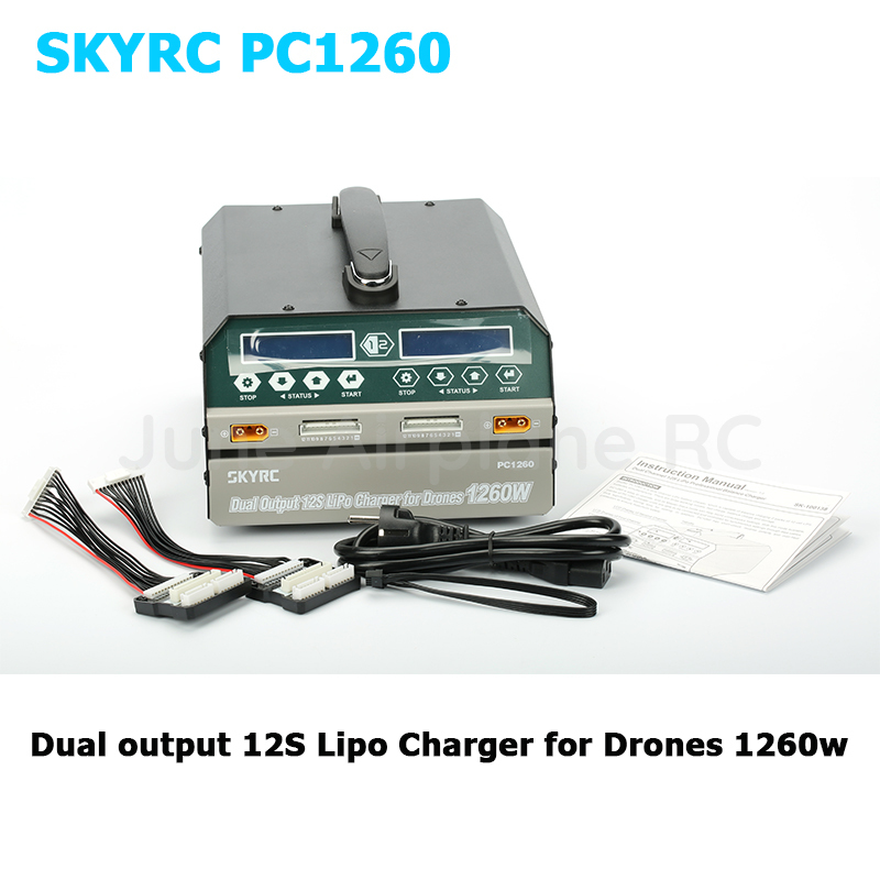 SKYRC PC 1260 Dual Channel 12S Lipo Charger Maximum Charge Power 1260w Charge current 12A for
