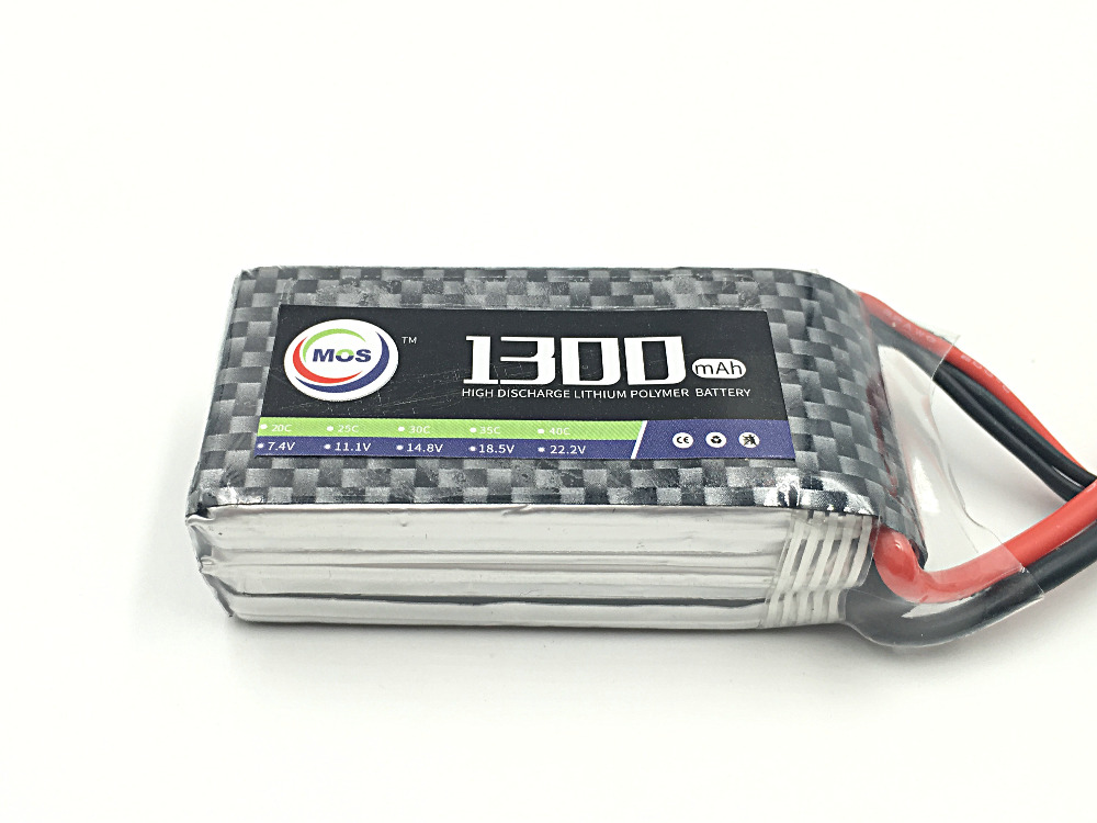 MOS 4S RC Lipo battery 14.8v 1300mAh 35C For RC helicopter airplane drone car boat batteria AKKU free shipping games [a2 b1] der planet steht auf dem spiel