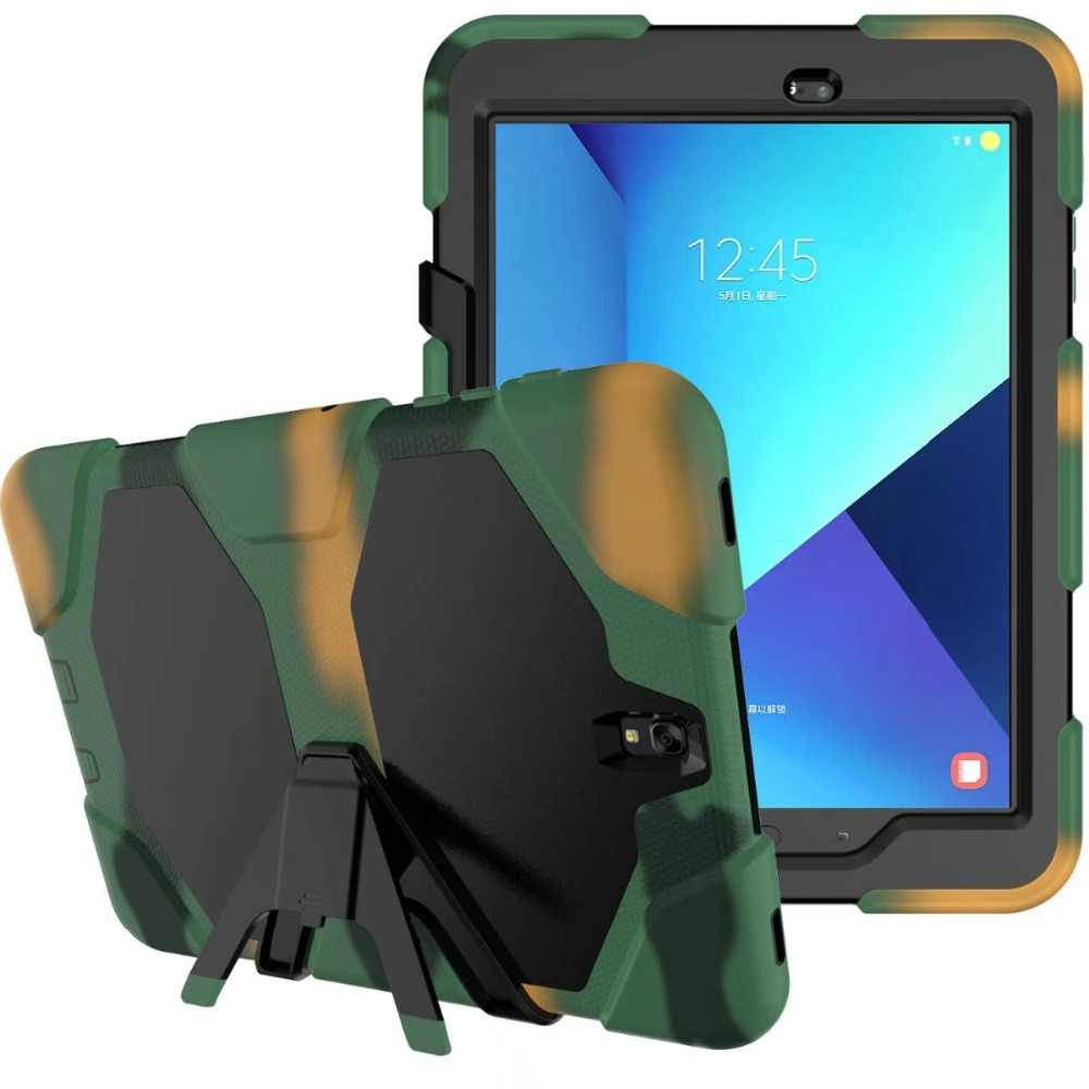 Tough RUGGED MILITARY DUTY Fashion Stand Case Silicon+ PC hybrid stand Case Cover For Samsung Galaxy Tab S3 9.7 T820 T825 Shock