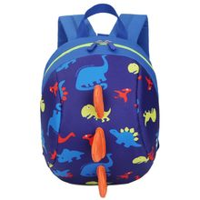 Baby Toy School Bags Cartoon Dinosaur Print Mini Plush Backpack Kids Outdoor Travel Pack Bag Student Kindergarten Bag(China)