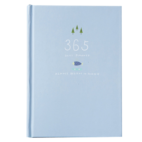 365 days personal diary planner hardcover notebook diary office weekly schedule cute stationery Light Blue new 2018 cute 365 planner notebook a5 diary hardcover traveller notebook journal diary stationery gift wj xxwj476