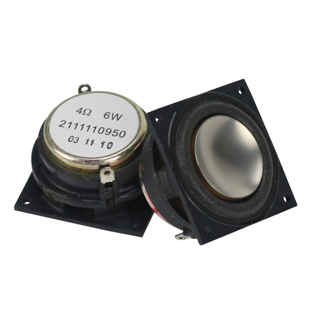 4OHM Mini hoparlör neodimyum 1.25 inç tam aralıklı 34*34mm için büyük hacimli Bluetooth cep boynuz DIY 6W