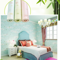 Beibehang Wallpaper Kids Room Cartoon Anime Nonwovens Bunny Warm And Relaxed Bedroom Wallpaper Blue Star