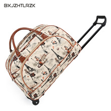 BXJZHTLRZK Ms. Travel Bag Female Cartoon Trolley PU Material Cute Fashion