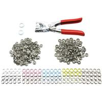 100 Sets 5 Colors 120 Sets 6 Colors Metal Snap Buttons DIY Fasteners Press Studs Poppers
