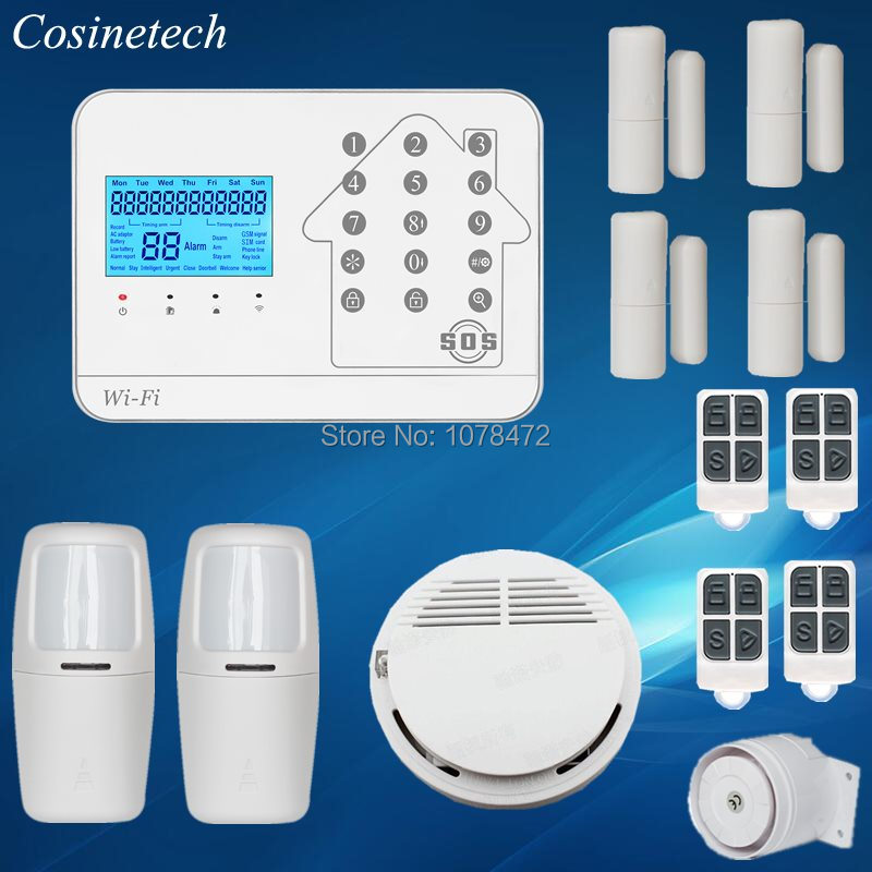 New arrival GSM WIFI PSTN alarm system,APP controlled home security alarm,good quality tri-network household safety alarm system