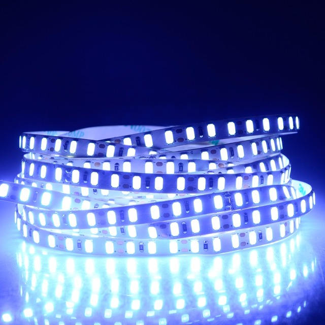 5730 LED Strip Light 600 LEDs 5M 12V High Lumen Flicker-Free LED Diode Ribbon Tape Lamp PC TV Background Decor White/Warm White