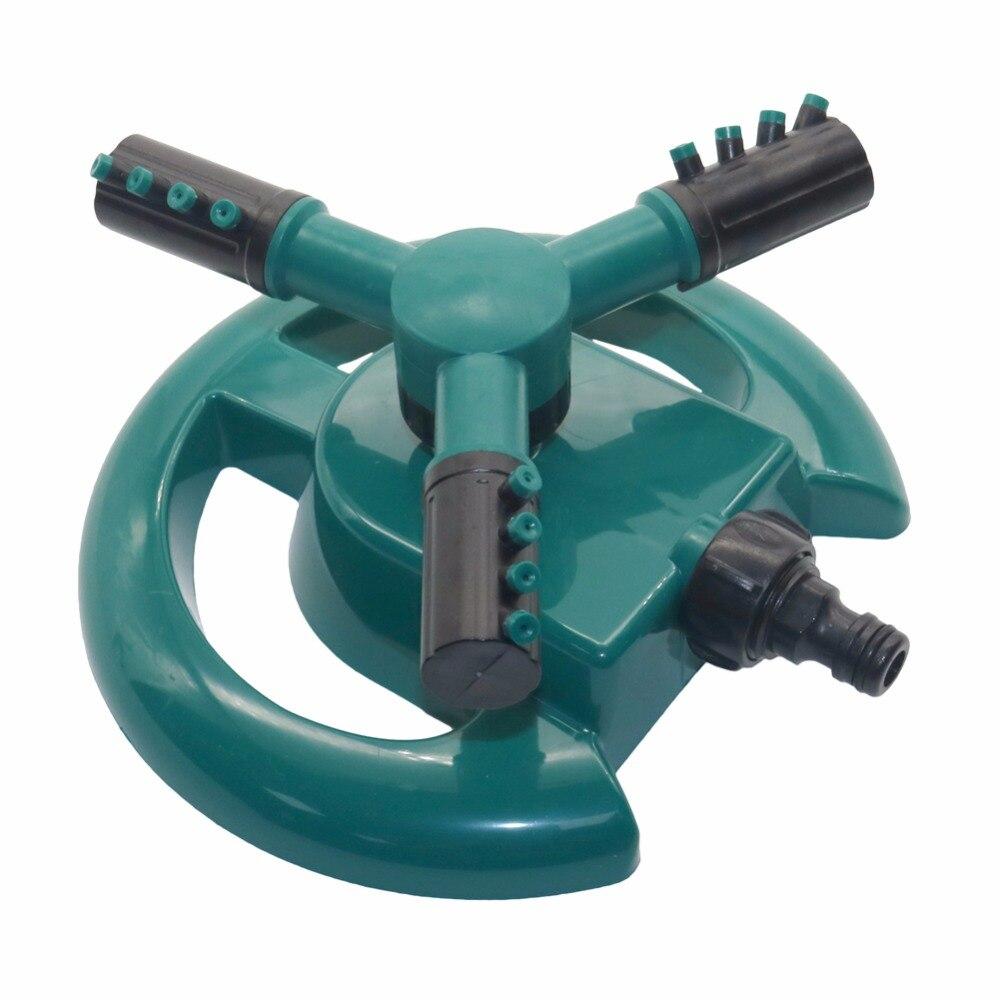 Aspersores riego automático césped 360 grados círculo girando rociadores de agua 3 boquillas tres brazo manguera de tubería de jardín