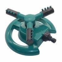 Tuin Sprinklers Automatisch sproeisysteem Gras Gazon 360 Graden Cirkel Roterende Water Sprinkler 3 Nozzles Drie Arm Tuin Pijp Slang