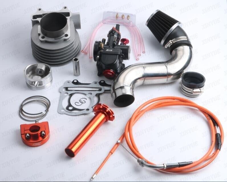 Carburetor PWK30 GY6 157QMJ 200cc 63mm Cylinder Cylinder Head Air Filter CDI A11 Cam Throttle High Pressure Pack Large CNC pwk high performance 38mm air striker
