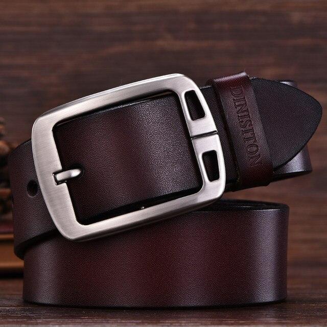 DINISITON hommes vache véritable en cuir homme ceinture de luxe sangle mâle ceintures  pour hommes nouvelle mode vintage boucle ardillon Designer ceinture ... 89f6a219747