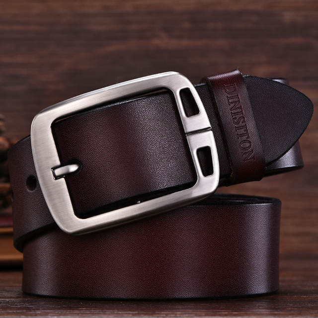3aea4b65c placeholder DINISITON mens cow genuine leather man belt luxury strap male  belts for men new fashion vintage
