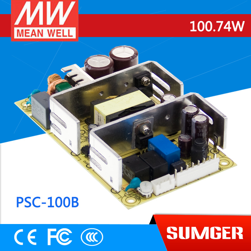 [Sumger2] MEAN WELL original PSC-100B 27.6V meanwell PSC-100 100.74W Single Output with Battery Charger(UPS Function) PCB type лопата truper psc b ws 33813