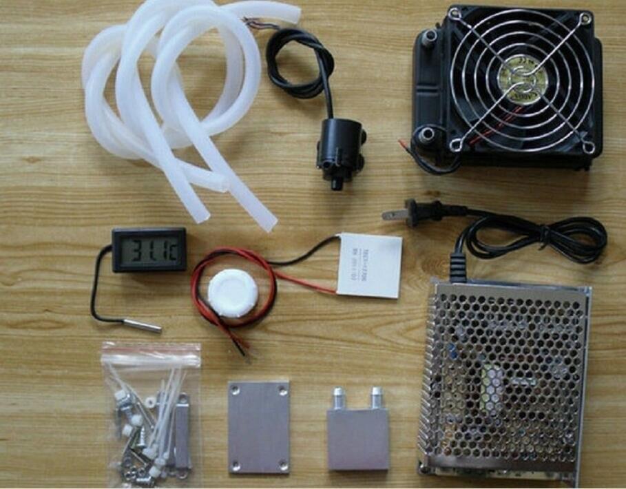 Système de refroidissement thermoélectrique réfrigération refroidisseur ventilateur Peltier TEC1-12706 Kits alimentation thermomètre eau de refroidissement