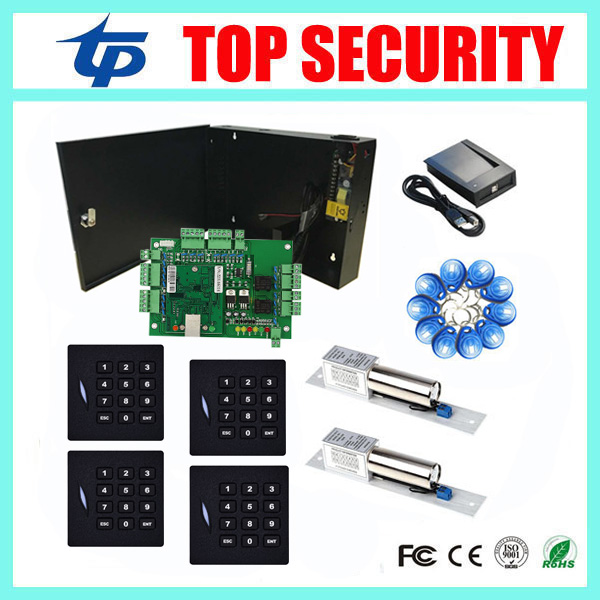L02 door access controller access control panel with wiegand RFID card reader and 280KG EM lock smart card access control biometric face and fingerprint access controller tcp ip zk multibio700 facial time attendance and door security control system