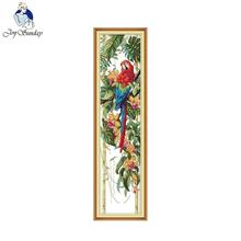 This scarlet macaw (3) Counted Cross Stitch Diy 11CT 14CT Set Cross-stitch Kits Embroidery Needlework