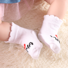 Newborn Baby Girls Boys Socks Infant Kids Stripe Letter Print Cotton Lovely Princess