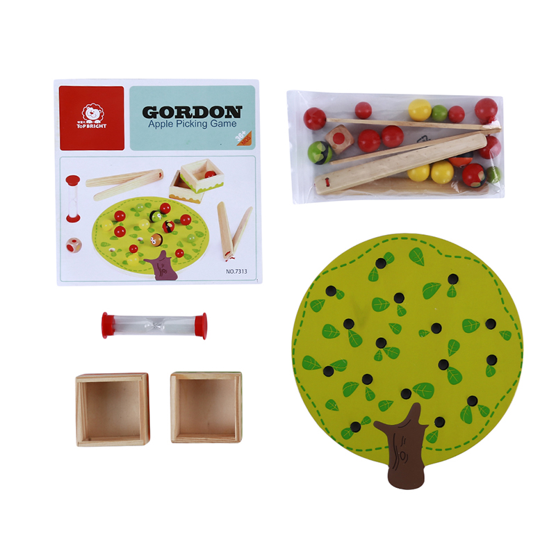 Development Manual Brain Ball Toys Colorful Small Fruit Tree Clip Clip Music children's Puzzle Pile Building Teaching Aid