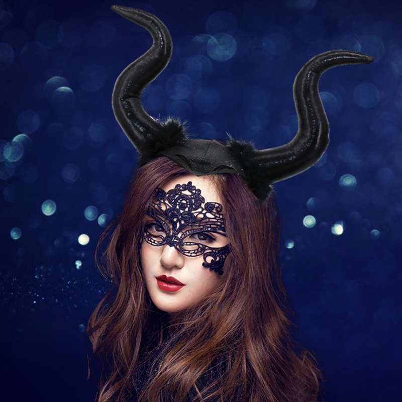 Painstaking Maleficent Cosplay Mask Headgear Black Queen Black Horns Masks Helmet Headwear Halloween Party Props Costumes & Accessories Boys Costume Accessories