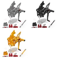 Areyourshop Motorcycle For KTM RC 390 14 18 CNC Rear Sets Rearsets Foot pegs Pedals Adjustable Aluminium Alloy Motorbike Parts