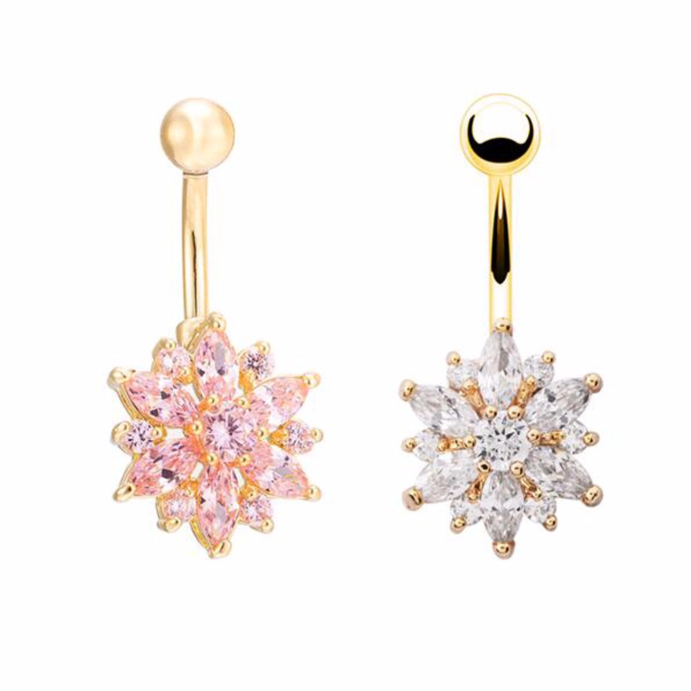 HTB1b2Z0MpXXXXceXpXXq6xXFXXXb Crystal Rhinestone Press Button Flower Pendant Navel Ring - 2 Colors