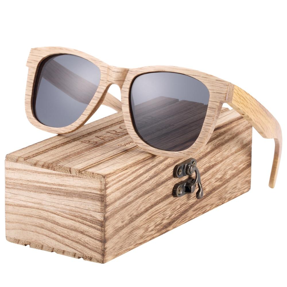 BARCUR Natural Wood Sunglasses Men Polarized Sunglasses Women Traveling Vintage glasses oculos de sol 4