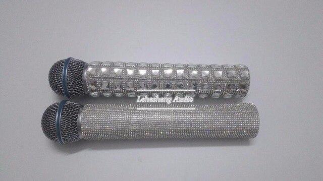 Сияющий Алмаз Микрофон Защитный Чехол Производительность Микрофон Крышка
