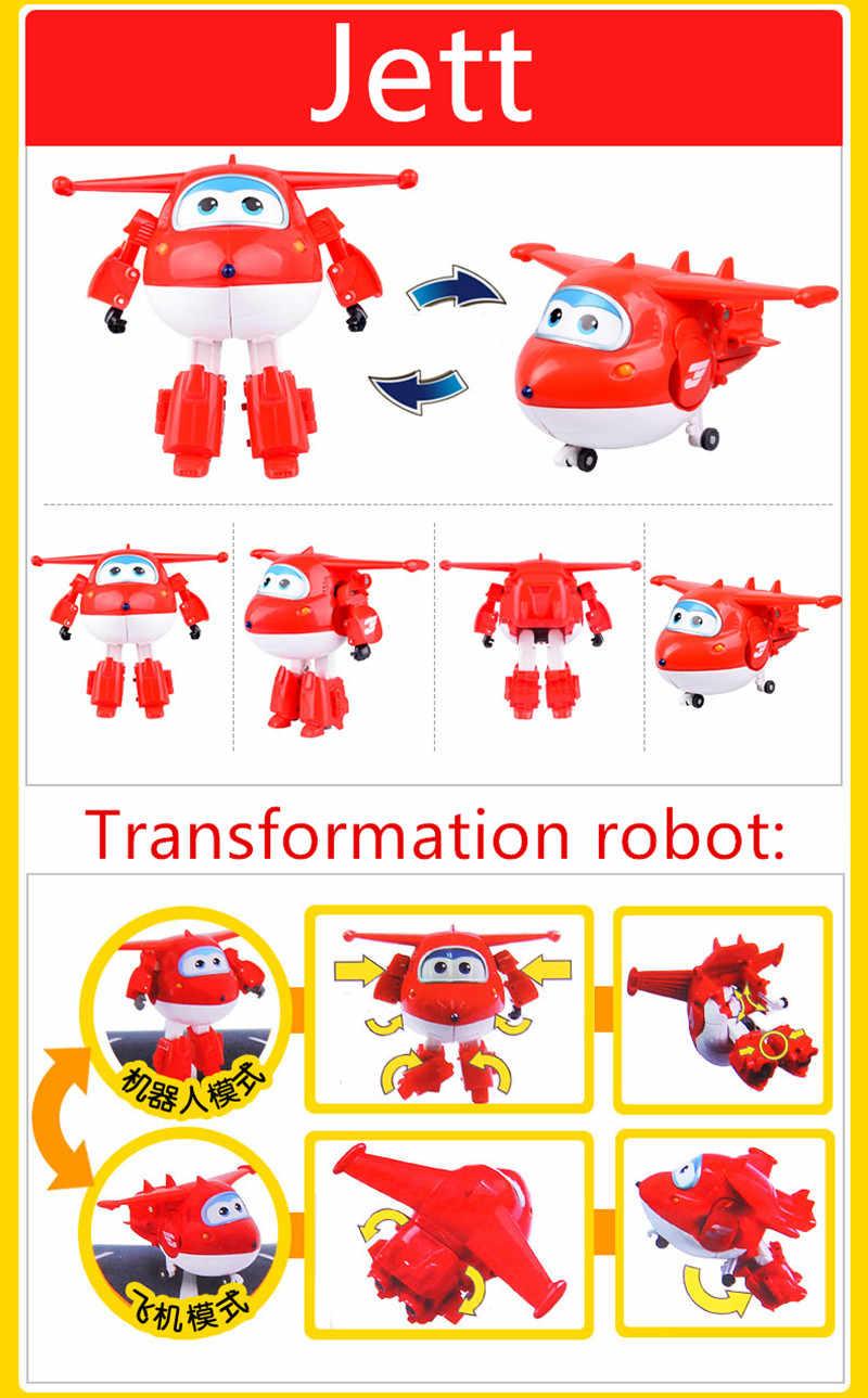 15 センチメートルスーパー羽ビッグサイズ飛行機変換ロボットアクションフィギュアのおもちゃスーパー翼ミニジェットのおもちゃクリスマスギフト-50
