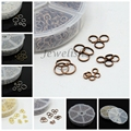 1 Box Iron Double Jump Rings, 4mm/5mm/6mm/7mm/8mm/10mm Mixed Split Jump Ring, Bijoux DIY
