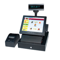 Wholeset Commercial EPOS System Touch Computer All In One PC Pos Terminal With MSR