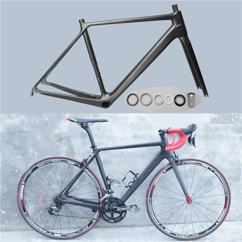 New arrival 2017 ultra-light full carbon fiber bicycle carbon frame diy bb86 road frame Carbon fiber highway bicycle frame diy carbon steel oval frame cutting dies