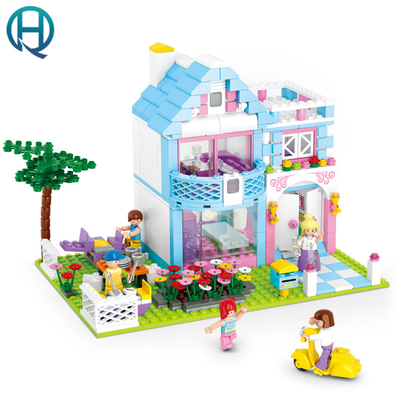 Dream Series Garden Villa Building Blocks Set 539 Pcs 5 Toy Figures Model Building Toy Bricks Toys for Girls Sluban Compatible w dream toys втулка 5 режимов ротации