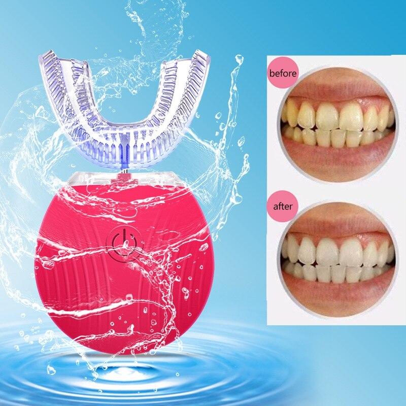 Brosse à dents électrique sonique automatique intelligente de brosse à dents de vague de 360 degrés