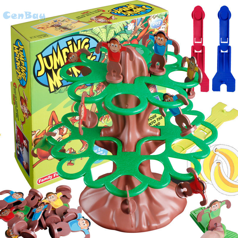Funny Kids Jumping Monkeys Winning Bananas Table Game Parent-child Interactive Educational Toys Family Game for Children Gifts
