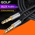 Golf 3.5mm AUX Audio Cable Male to Male for Car iPod MP3 Headphone Beats Speaker Auxiliary Extended Stereo AUX Cord Jack Device