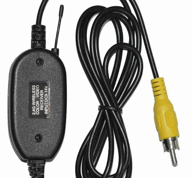 الالكترونيات والسيارات حار بيع 2.4G اللاسلكية RCA فيديو الارسال والاستقبال ل كاميرا احتياطية لسيارة دروبشيبينغ جهاز تسجيل فيديو رقمي للسيارات 2019