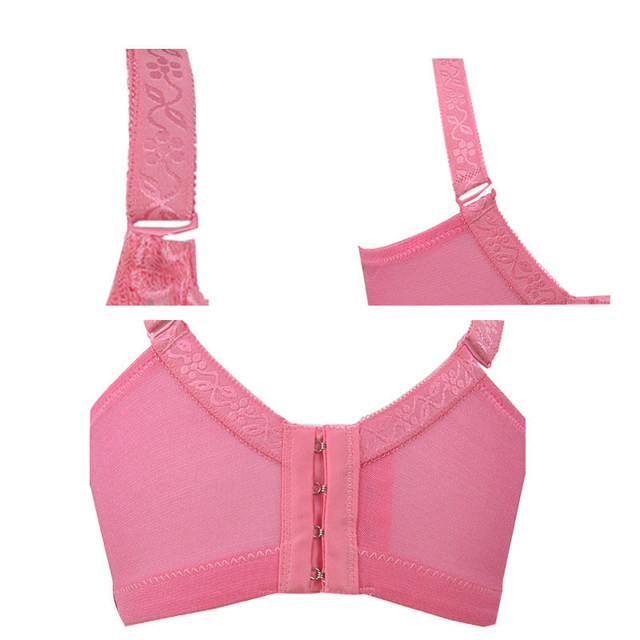Big sizes 85D 90D 95D 100D 105D Women Bras 2018 Spring Summer Women Sexy Push Up Lace Bra Brassiere Underwire Lingerie Underwear 21