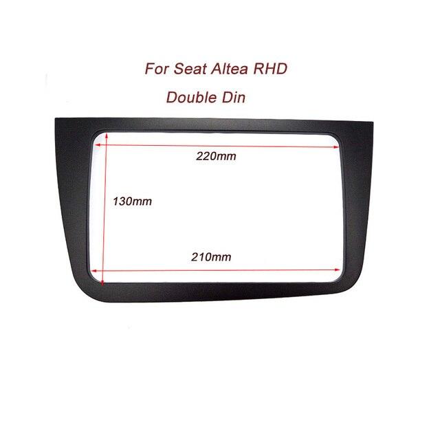 CT-CARID Fascia Duplo 2 Din Som Do Carro para SEAT ALTEA (RHD) Quadro Radio DVD Player Traço Painel de Guarnição Kit de Instalação