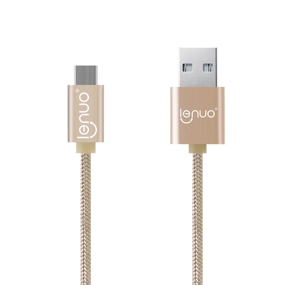 Marque Lenuo 2.4A USB C Type-C Rapide Sync & Chargeur Câble pour Nubia Z11 Mini ZTE Axon 7 Asus ZenFone 3 ZE552KL Moto Z Type C câble