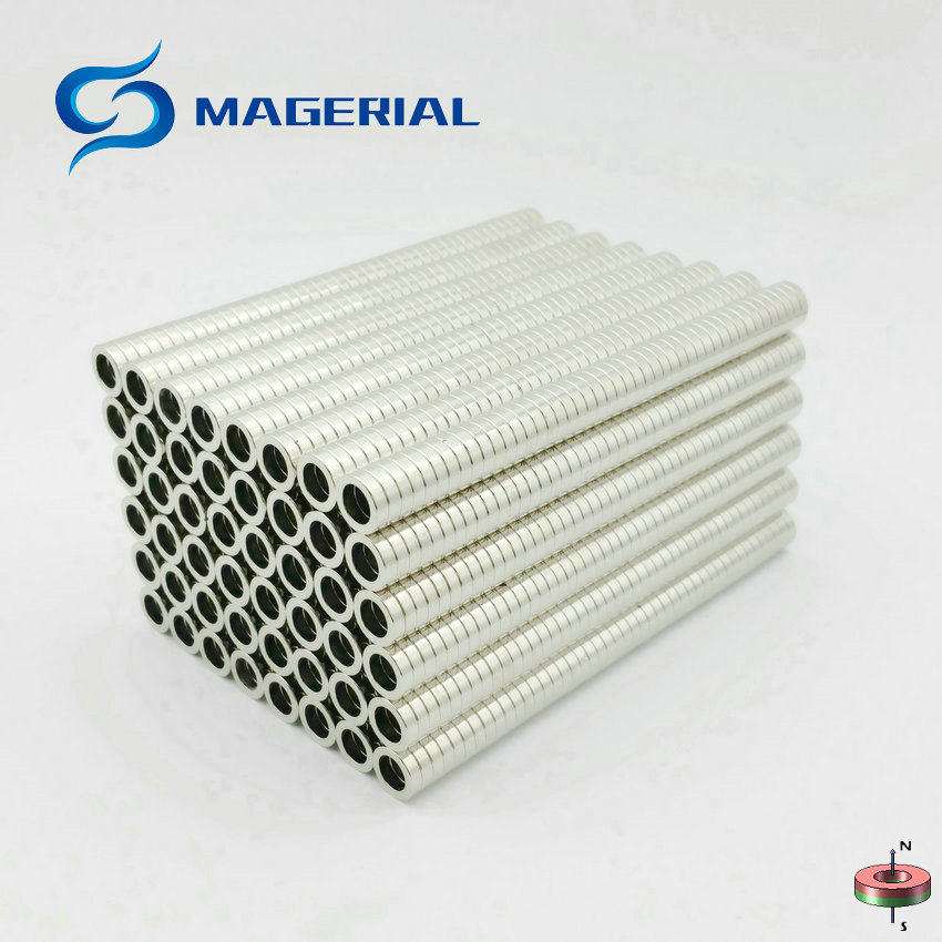 48-1500pcs NdFeB N42 Axially Magnetized Magnet Ring OD 10x6.5x2.5 mm about 0.39'' Strong Neodymium Permanent Rare Earth Magnet 1 pack grade n38 ndfeb micro ring diameter od 9 5x4x0 95 mm 0 37 strong axially magnetized nicuni coated rare earth magnet