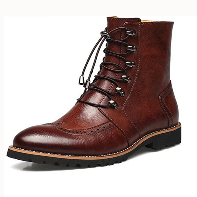 Fashion Men Shoes,Handmade Super Warm Genuine Leather Winter Ankle Boots Men Casual Shoes Men British Style Snow Boots 218 ZYH