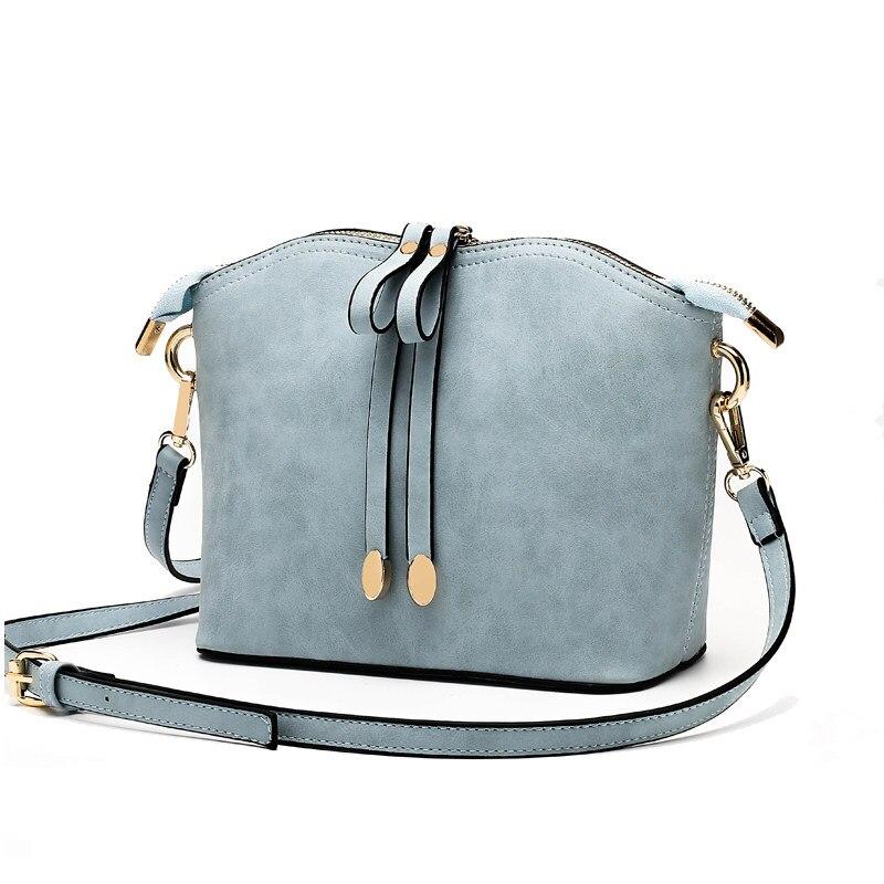 Plain Nubuck Leather Ladies Shell Bag Fashion Simple Shoulder Bag Casual PU Small Crossbody Bag Women