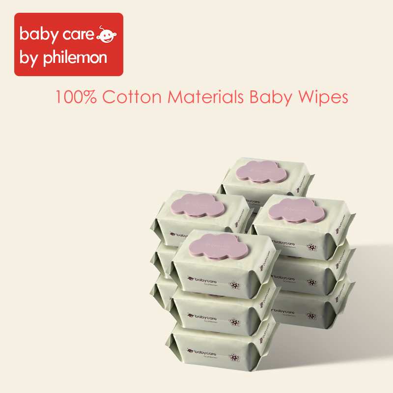 Babycare Wet Wipes Baby Hand And Mouth Wipes Without Chemical Bleach Fluroescnet Malonate Formaldehyde Thicken Cotton 12Bags/Set