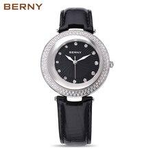Берни розовое золото новая мода 2017 известных брендов, креативные часы женские кварцевые часы дамы платье роль Xfcs женские Наручные